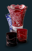 Art on Glass - Olbernhauer Lead Crystal - Hand cut and artistic quality engraving